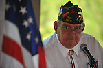 Randal Loyed speaks at the dedication of the new Veterans Park in Oxford, Miss. on Saturday, June 30, 2012.