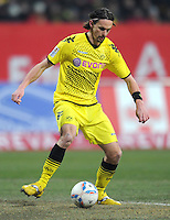 FUSSBALL   1. BUNDESLIGA  SAISON 2011/2012   20. Spieltag 1. FC Nuernberg - Borussia Dortmund         03.02.2012 Neven Subotic (Borussia Dortmund)