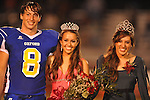 Allison Lyon (center), escorted by Oxford High's Franklin Tatum (8), was name Homecoming Queen during Homecoming of the Oxford vs. Hernando in Oxford, Miss. on Friday, October 14, 2011. She was crowned by 2010 Homecoming Queen Ann Crabtree. Hernando won 31-30 in overtime.