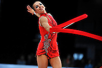 Daria Dmitrieva of Russia performs at 2010 World Cup at Portimao, Portugal on March 13, 2010.  (Photo by Tom Theobald).