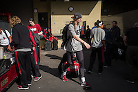 STANFORD, CA - The Stanford Cardinal prepares to depart from Maples Pavilion en route to Nashville, TN for the 2014 NCAA Final Four tournament at the Bridgestone Arena.