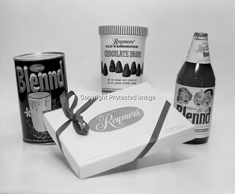 Client: Reymer's Company<br /> Advertising Agency:  Geyer Printing<br /> Contact: Frank Staub<br /> Products:  Lemon Blennd, Reymer's Chocolates, Reymer's Chocolate Drops<br /> Location:  Brady Stewart Studio on 725 Liberty Avenue in Pittsburgh<br /> <br /> Originally developed by E. W. Keagy in 1947, the rights were sold to Reymer's and HJ Heinz.