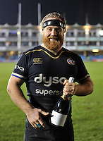 Man of the Match Ross Batty poses for a photo after the game. European Rugby Challenge Cup match, between Bath Rugby and Cardiff Blues on December 15, 2016 at the Recreation Ground in Bath, England. Photo by: Patrick Khachfe / Onside Images