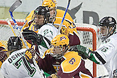 TJ Oshie, Chris Porter, Ryan Potulny, Kellen Briggs, RJ Anderson, Kyle Radke - The University of Minnesota Golden Gophers defeated the University of North Dakota Fighting Sioux 4-3 on Friday, December 9, 2005, at Ralph Engelstad Arena in Grand Forks, North Dakota.