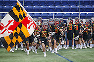 Annapolis, MD - February 11, 2017: Maryland Terrapins before the game between Maryland vs Navy at  Navy-Marine Corps Memorial Stadium in Annapolis, MD.   (Photo by Elliott Brown/Media Images International)
