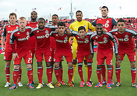 20 October 2012: The Toronto FC Starting Eleven  during an MLS game between the Montreal Impact and Toronto FC at BMO Field in Toronto, Ontario Canada. .The ended in a 0-0 draw..