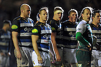Chris Cook of Bath Rugby looks on during a break in play. Aviva Premiership match, between Leicester Tigers and Bath Rugby on November 29, 2015 at Welford Road in Leicester, England. Photo by: Patrick Khachfe / Onside Images