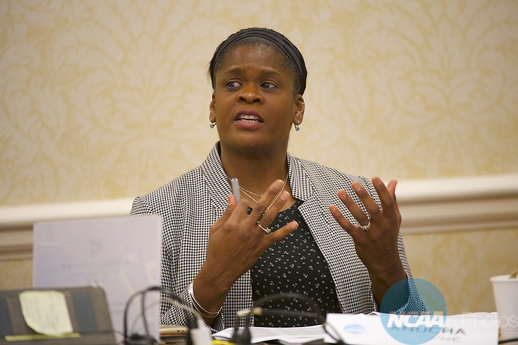 18 JAN 2017: The Division I Women's Basketball Committee meeting takes place during the 2017 NCAA Convention at the Gaylord Opryland Resort and Convention Center in Nashville, TN.  Jamie Schwaberow/NCAA Photos  (Pictured:  Anucha Browne)