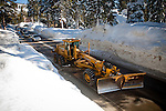 A snowplow works to clear record early season snowfall in Soda Springs, Calif., January 6, 2011. California has already received 80% of its normal annual precipitation in the first two months of a rainy season that lasts another four months..CREDIT: Max Whittaker for The Wall Street Journal.CALWATER