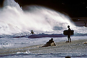Body boarding at Sandy beach, East Oahu