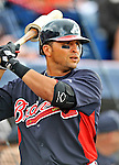 6 March 2011: Atlanta Braves' infielder Martin Prado stands on deck during a Spring Training game against the Washington Nationals at Space Coast Stadium in Viera, Florida. The Braves shut out the Nationals 5-0 in Grapefruit League action. Mandatory Credit: Ed Wolfstein Photo
