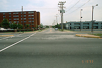 1993 May 19..Assisted Housing..Calvert Square..BEFORE RENOVATIONS.ROLL 9-5.VIRGINIA BEACH BLVD LOOKING NORTH INTO CHAPEL...NEG#.NRHA#..