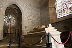 King Sancho VII Tomb, Sala Capitular, Real Colegiata de Santa Maria Church, Roncesvalles, Navarra, Spain