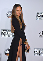 LOS ANGELES, CA. November 20, 2016: Model Chrissy Teigen at the 2016 American Music Awards at the Microsoft Theatre, LA Live.<br /> Picture: Paul Smith/Featureflash/SilverHub 0208 004 5359/ 07711 972644 Editors@silverhubmedia.com