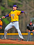 19 April 2009: University at Albany Great Danes' right handed pitcher Zach Kraham, a Freshman from Ghent, NY, on the mound against the University of Vermont Catamounts at Historic Centennial Field in Burlington, Vermont. The Great Danes defeated the Catamounts 9-4 in the second game of a double-header. Sadly, the Catamounts are playing their last season of baseball, as the program has been marked for elimination due to budgetary constraints on the University. Mandatory Photo Credit: Ed Wolfstein Photo