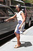 NEW YORK, NY - MAY 9: Former U.S. Secretary of State Condoleeza Rice spotted leaving 'The View' where she talked about her book 'Democracy: Stories from the Long to Freedom'   in New York, New York on May 9 , 2017.  Photo Credit: Rainmaker Photo/MediaPunch