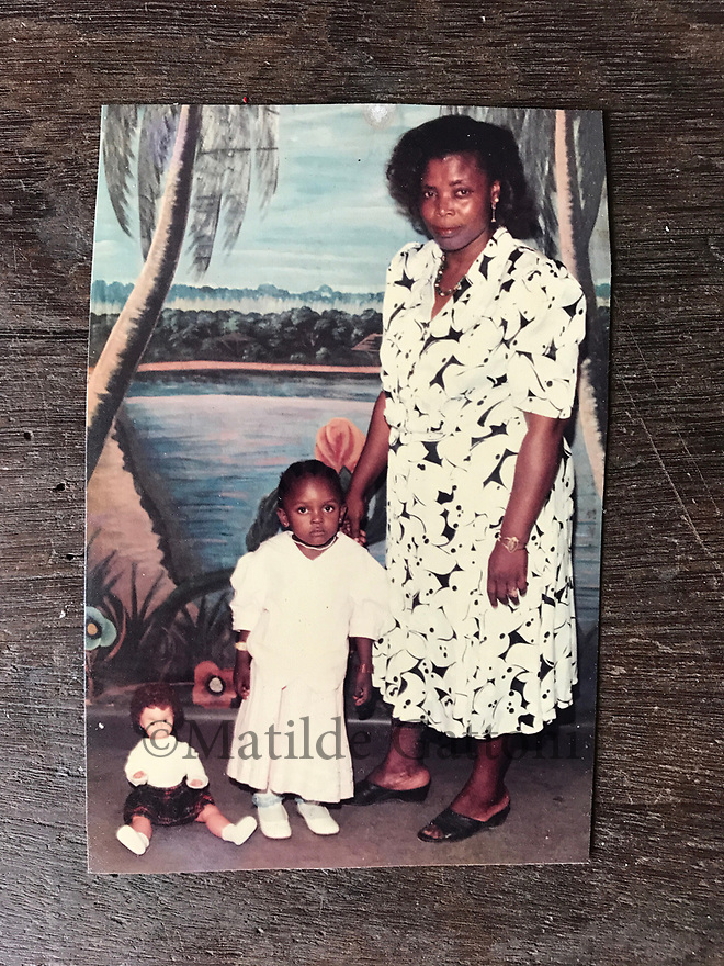 Cameroon - Douala - An old picture of Emilienne Nana (right) standing next to her niece Laura Keutchakeu who now lives in France.