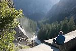 Man above Vernal Falls