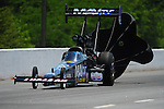 May 5, 2012; Commerce, GA, USA: NHRA top fuel dragster driver Brandon Bernstein during qualifying for the Southern Nationals at Atlanta Dragway. Mandatory Credit: Mark J. Rebilas-