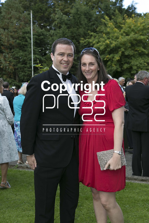 Marcus Horan and his Wife Catriona Arriving at the wedding of Ex Munster & Ireland Rugby Player Denis Leamy &  Grainne  Brosnan in Rockwell College Church Co.Tipperary Picture Credit: Brian Gavin Press 22