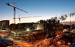 Construction of the Health Research Innovation Facility flanks the Heritage Medical Research Centre on the University of Alberta Campus, in Edmonton, on January 10, 2005.  John Ulan/Epic Photography