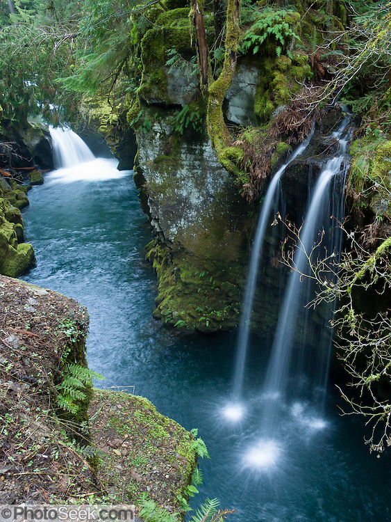 Two Pretty Waterfalls Along The North Umpqua River On The