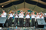 The Storyville Stompers Brass Band perform at the New Orleans Jazz and Heritage Festival in New Orleans, Louisiana, May 1, 2011.