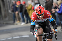 Bob Jungels (LUX/QuickStep Floors) on the attack on the final ascent towards the finish on the Mur de Huy <br /> <br /> 81st La Fl&egrave;che Wallonne (1.UWT)<br /> One Day Race: Binche &rsaquo; Huy (200.5km)