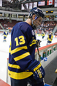 Mike Collins (Merrimack - 13) - The visiting Merrimack College Warriors tied the Boston University Terriers 1-1 on Friday, November 12, 2010, at Agganis Arena in Boston, Massachusetts.
