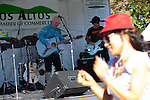 Donna of Sunnyvale dances to the music of Michale Barret and Friends at the Los Altos Fall Festival.
