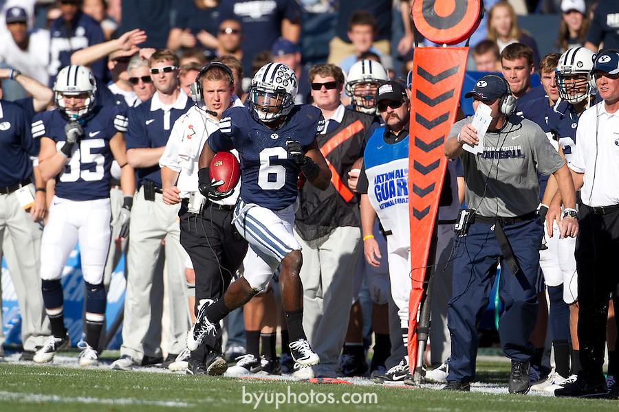_3MP5326.jpg..11FTB BYU vs Idaho State..The BYU Football Team defeats Idaho State by a score of 56-3 at Lavell Edwards Stadium in Provo, Utah...October 22, 2011..Photo by Mark A. Philbrick/BYU..© BYU PHOTO 2011.All Rights Reserved.photo@byu.edu  (801)422-7322