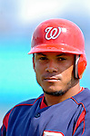 14 March 2006: Bernie Castro, infielder for the Washington Nationals, prepares to go to bat during a Spring Training game against the Florida Marlins. The Marlins defeated the Nationals 2-1 at Space Coast Stadium, in Viera, Florida...Mandatory Photo Credit: Ed Wolfstein..