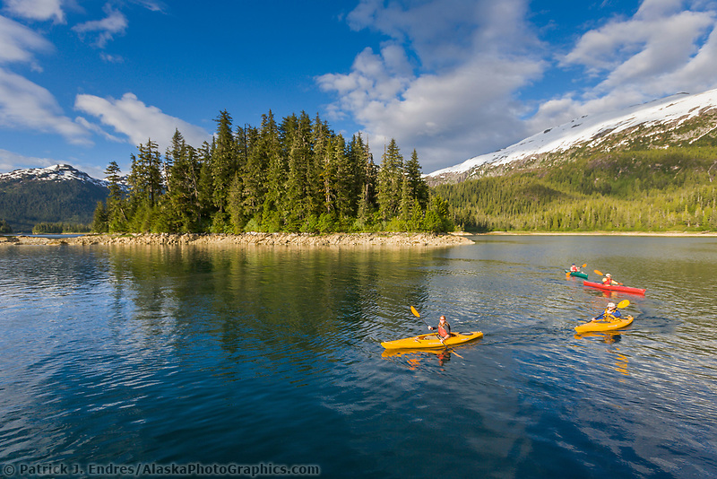 Sea Kayaking in Cedar Bay, Prince William Sound, Alaska
