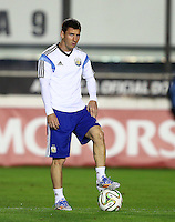 Lionel Messi of Argentina during the training session