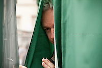 Julian Assange - 2011<br /> <br /> London, 08/10/2011. Today Trafalgar Square was the stage of the &quot;Antiwar Mass Assembly&quot; organised by The Stop The War Coalition to mark the 10th Anniversary of the invasion of Afghanistan. Thousands of people gathered in the square to listen to speeches given by journalists, activists, politicians, trade union leaders, MPs, ex-soldiers, relatives and parents of soldiers and civilians killed during the conflict, and to see the performances of actors, musicians, writers, filmmakers and artists. The speakers, among others, included: Jeremy Corbin, Joe Glenton, Seumas Milne, Brian Eno, Sukri Sultan and Shadia Edwards-Dashti, Hetty Bower, Mark Cambell, Sanum Ghafoor, Andrew Murray, Lauren Booth, Kate Hudson, Sami Ramadani, Yvone Ridley, Mark Rylance, Dave Randall, Roger Lloyd-Pack, Rebecca Thorn, Sanasino al Yemen, Elvis McGonagall, Lowkey (Kareem Dennis), Tony Benn, John Hilary, Bruce Kent, John Pilger, Billy Hayes, Alison Louise Kennedy, Joan Humpheries, Jemima Khan, Julian Assange, Lindsey German, George Galloway. At the end of the speeches a group of protesters marched toward Downing Street where after a peaceful occupation the police made some arrests.