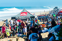 PIPELINE, Oahu, Hawaii (Sunday, December 8, 2013) - The opening day of the Billabong Pipe Masters, in Memory of Andy Irons, commenced today in firing six-to-eight foot (2 metre) waves and the world's best surfers put on an incredible display of technical barrel riding at Pipeline and Backdoor to complete Rounds 1 and 2. The Billabong Pipe Masters is the third and final leg of the Vans Triple Crown of Surfing.<br /> <br /> The final stop on the ASP World Championship Tour (WCT), the Billabong Pipe Masters will decide the 2013 ASP World Title Race, the coveted Vans Triple Crown of Surfing Champion and the final qualification slots for next season's Top 34. <br /> Gabriel Medina (BRA), 19, would put together an amazing show at the iconic lefts of Pipeline to kick off the Billabong Pipe Masters, navigating through a heavy barrel on his opening score to post a near-perfect 9.67. The Brazilian Prodigy would quickly back up the ride, earning an additional 9 point score for another deep Pipe tube punctuated with a massive alley-oop, eliminating Bruce Irons (HAW), 34. Medina's unlikely aerial at Pipeline puts him in the running for a 250,000 mile prize from   Hawaiian Airlines Airshow award.<br /> Sebastian Zietz (HAW), 25, defending Vans Triple Crown of Surfing Champion, immediately found his rhythm at Pipeline, earning the first perfect 10-point ride of Billabong Pipe Masters competition for an unbelievable Backdoor barrel.<br /> Photo: joliphotos.com