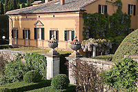 The Italian villa of La Foce is surrounded by lush formal gardens