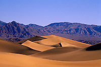 Death Valley National Park, California, USA - Mesquite Sand Dunes and Funeral Mountains near Stovepipe Wells at Sunrise