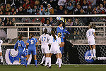 05 December 2008: North Carolina's Anna Rodenbough (in black) makes a save in traffic. The University of North Carolina Tar Heels defeated the University of California Los Angeles Bruins 1-0 at WakeMed Soccer Park in Cary, NC in an NCAA Division I Women's College Cup semifinal game.