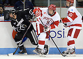 Chris Rooney (PC - 21), Wesley Myron (BU - 9), Danny O'Regan (BU - 10) - The Boston University Terriers defeated the visiting Providence College Friars 4-2 (EN) on Saturday, December 13, 2012, at Agganis Arena in Boston, Massachusetts.