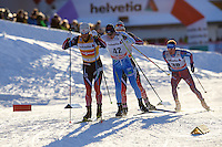 links vorne SUNDBY Martin Johnsrud (NOR) , dahinter HEIKKINEN Matti (FIN)
