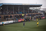 Forfar Athletic 1 Edinburgh City 2, 02/02/2017. Station Park, SPFL League 2. Spectators in the main stand watching the first-half action at Station Park, Forfar during the SPFL League 2 fixture between Forfar Athletic and Edinburgh City (yellow). It was the club's sixth and final meeting of City's inaugural season since promotion from the Lowland League the previous season. City came from behind to win this match 2-1, watched by a crowd of 446. Photo by Colin McPherson.