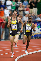 EUGENE, OR--Craig Mottram of Australia sets a new Hayward Field and Pre Classic Record with a time of 8:03:50 in the men's 2 mile at the Steve Prefontaine Classic, Hayward Field, Eugene, OR. SUNDAY, JUNE 10, 2007. PHOTO © 2007 DON FERIA