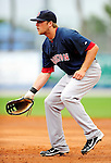 11 March 2010: Boston Red Sox first baseman Lars Anderson in action during a Spring Training game against the New York Mets at Tradition Field in Port St. Lucie, Florida. The Red Sox defeated the Mets 8-2 in Grapefruit League action. Mandatory Credit: Ed Wolfstein Photo