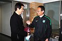 (L-R) Akira Nishino,  Takeshi Okada (Greentown),.FEBRUARY 25, 2012 - Football / Soccer :.Hangzhou Greentown FC head coach Takeshi Okada talks with Akira Nishino before a pre-season match between Omiya Ardija and Hangzhou Greentown FC at NACK5 Stadium Omiya in Saitama, Japan. Okada is a former Japan national team coach.