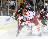Dax Lauwers (NU - 44), Sam Kurker (BU - 16) - The Northeastern University Huskies defeated the Boston University Terriers 3-2 in the opening round of the 2013 Beanpot tournament on Monday, February 4, 2013, at TD Garden in Boston, Massachusetts.