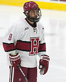 Luke Esposito (Harvard - 9) - The Harvard University Crimson defeated the St. Lawrence University Saints 6-3 (EN) to clinch the ECAC playoffs first seed and a share in the regular season championship on senior night, Saturday, February 25, 2017, at Bright-Landry Hockey Center in Boston, Massachusetts.