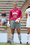 22 August 2014: Ohio State's Megan Geldernick. The Duke University Blue Devils played The Ohio State University Buckeyes at Fetzer Field in Chapel Hill, NC in a 2014 NCAA Division I Women's Soccer match. Ohio State won the game 1-0.