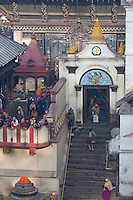 Pashupatinath, Kathmandu, Nepal.  One of the Entrances into Nepal's Holiest Hindu Temple, Pashupatinath.