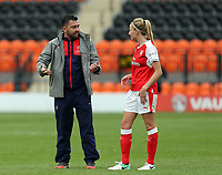 Arsenal Ladies manager Pedro Martinez Losa and Leah Williamson of Arsenal Ladies after Arsenal Ladies vs Birmingham City Ladies, FA Women's Super League FA WSL1 Football at the Hive Stadium on 20th May 2017
